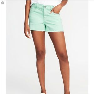 New Old Navy Women's Pop Color Cutoff Mint Shorts
